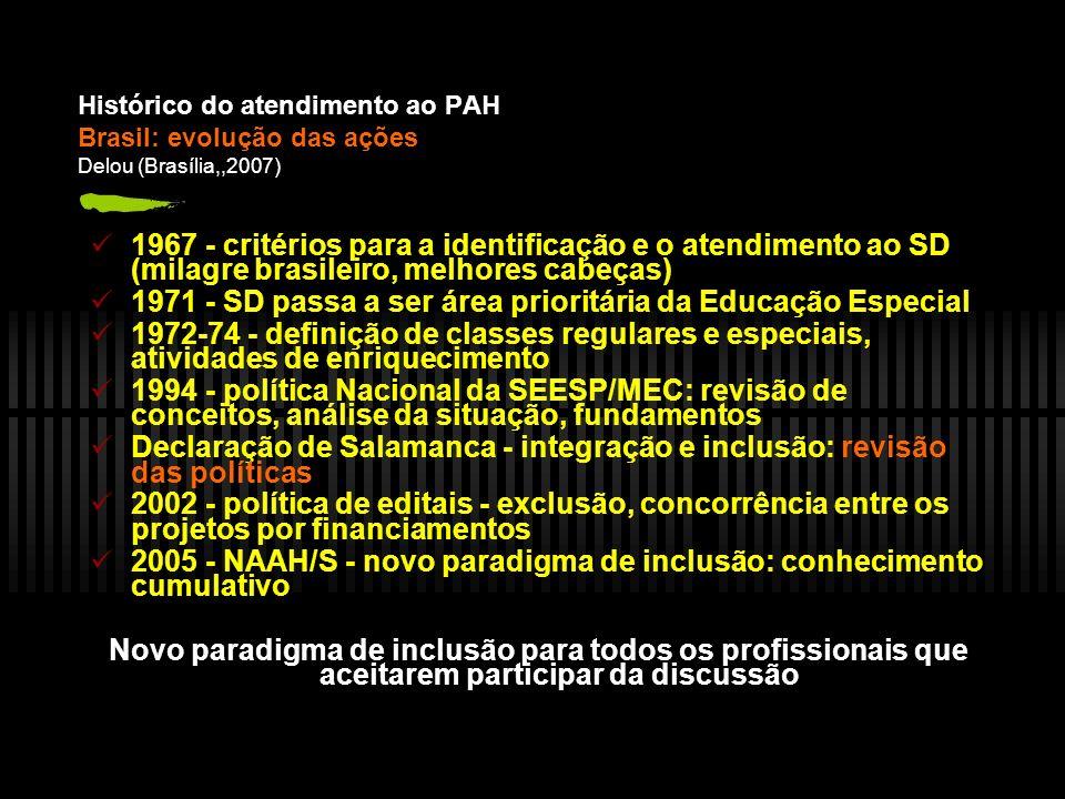 1971 - SD passa a ser área prioritária da Educação Especial