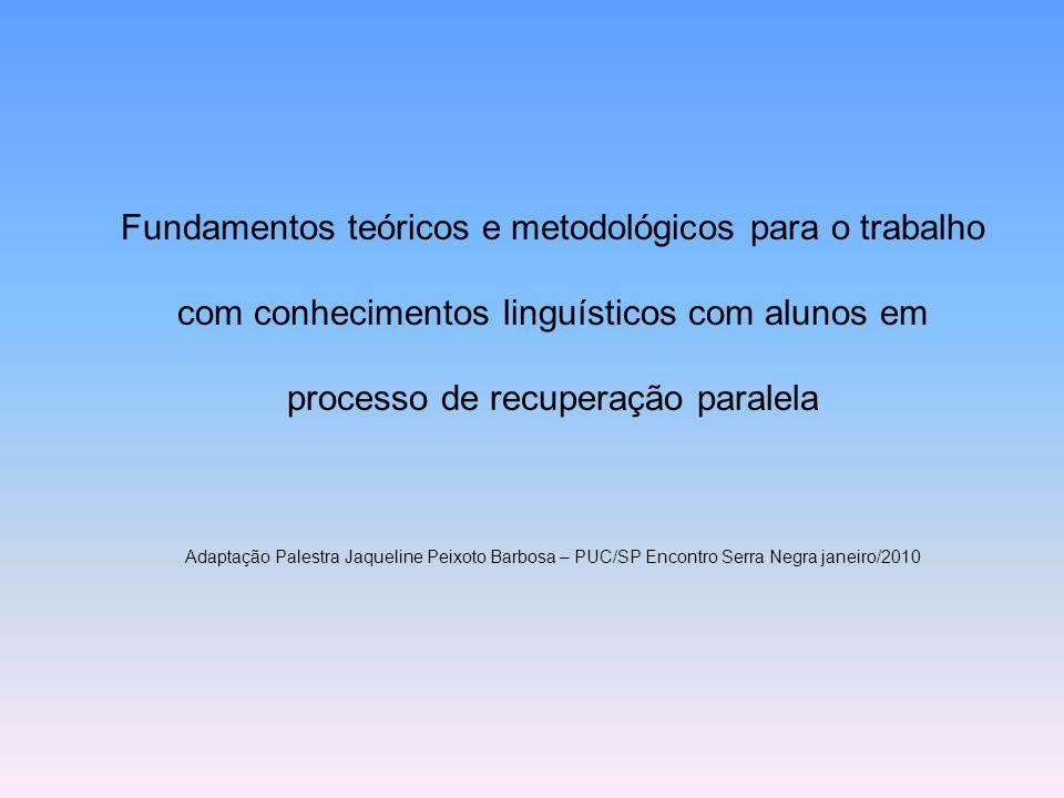 Fundamentos teóricos e metodológicos para o trabalho