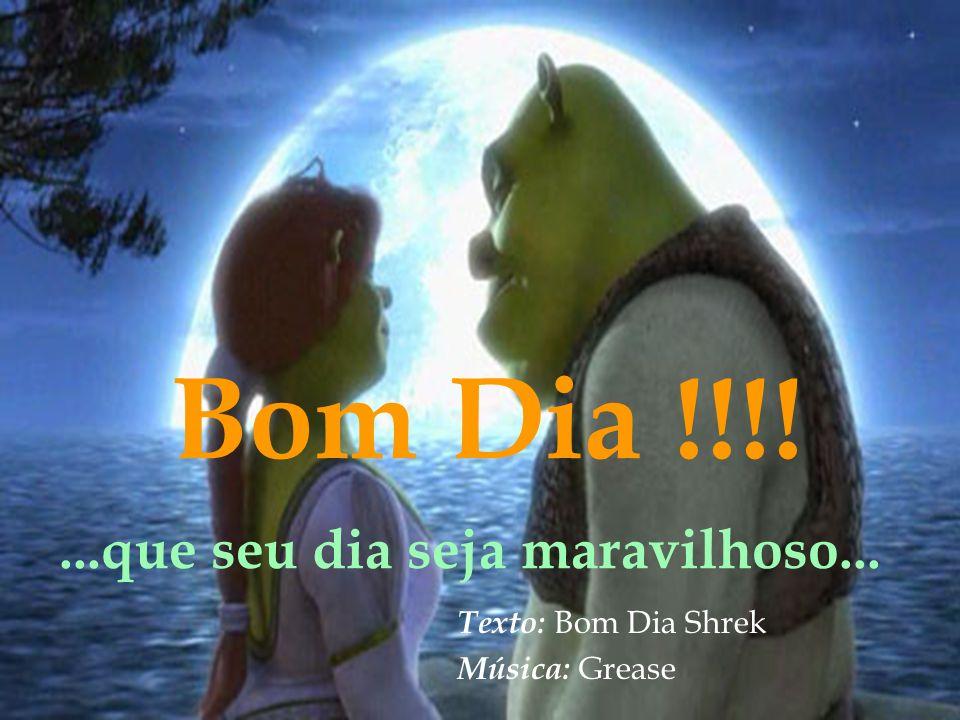 Bom Dia !!!! ...que seu dia seja maravilhoso... Texto: Bom Dia Shrek