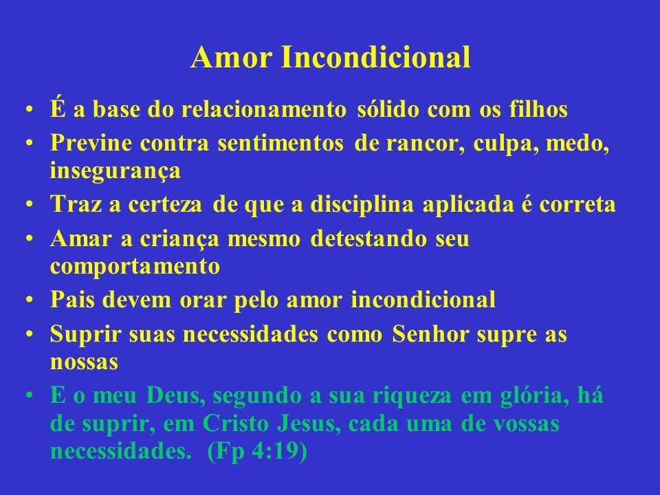 Amor Incondicional É a base do relacionamento sólido com os filhos