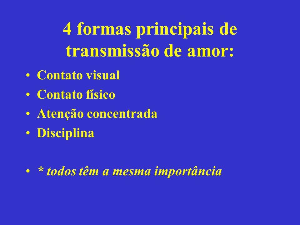 4 formas principais de transmissão de amor: