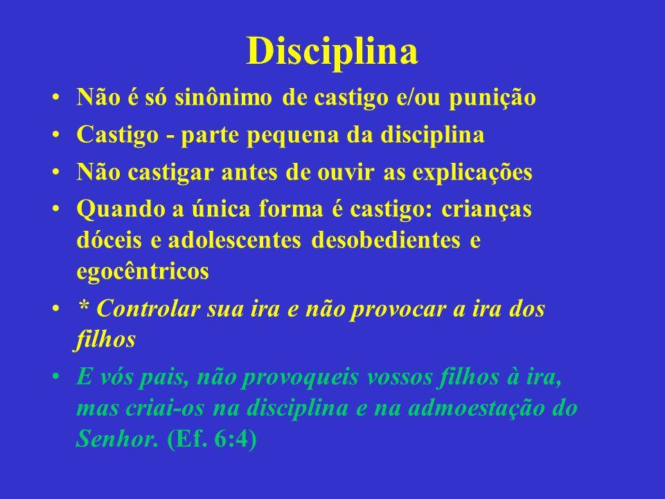 Disciplina Não é só sinônimo de castigo e/ou punição