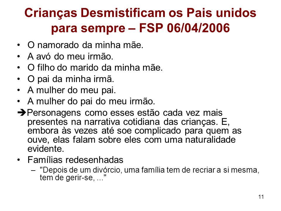 Crianças Desmistificam os Pais unidos para sempre – FSP 06/04/2006