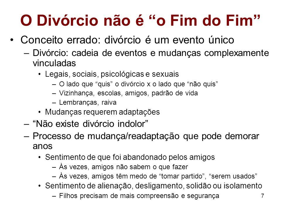 O Divórcio não é o Fim do Fim