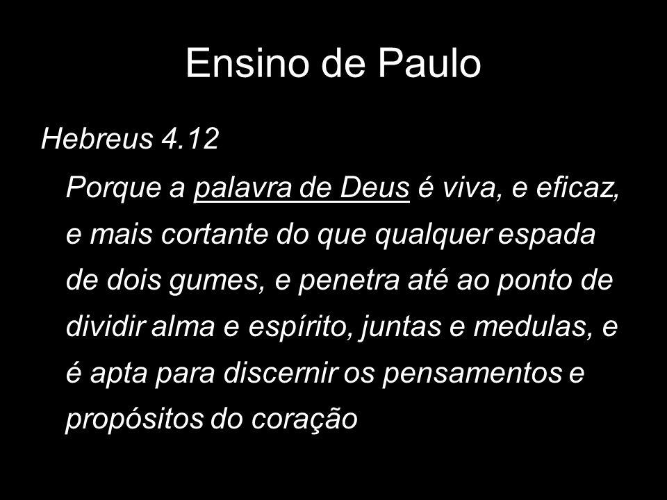 Ensino de Paulo Hebreus 4.12