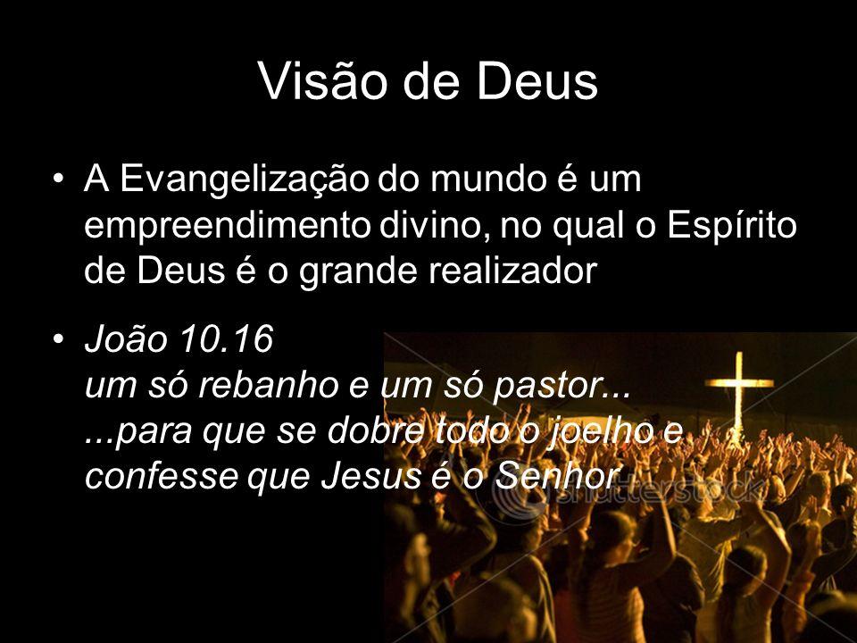 Visão de Deus A Evangelização do mundo é um empreendimento divino, no qual o Espírito de Deus é o grande realizador.