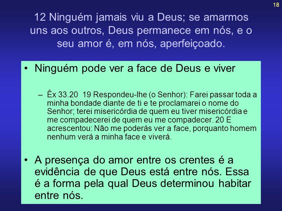 Ninguém pode ver a face de Deus e viver