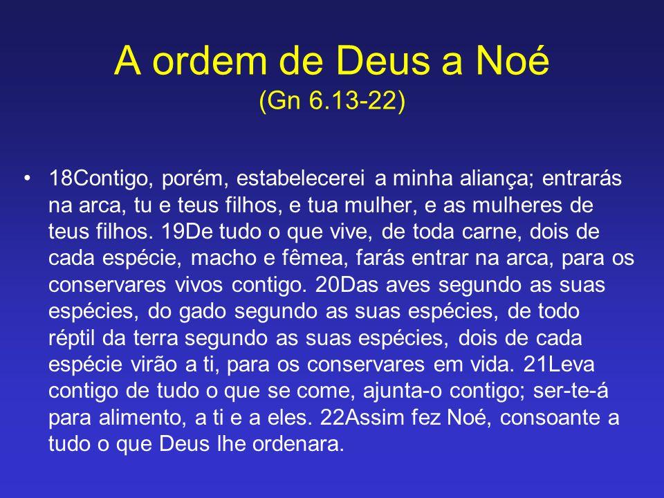 A ordem de Deus a Noé (Gn 6.13-22)