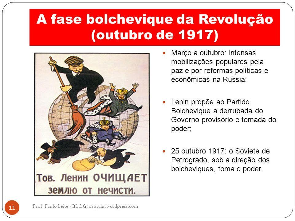A fase bolchevique da Revolução (outubro de 1917)