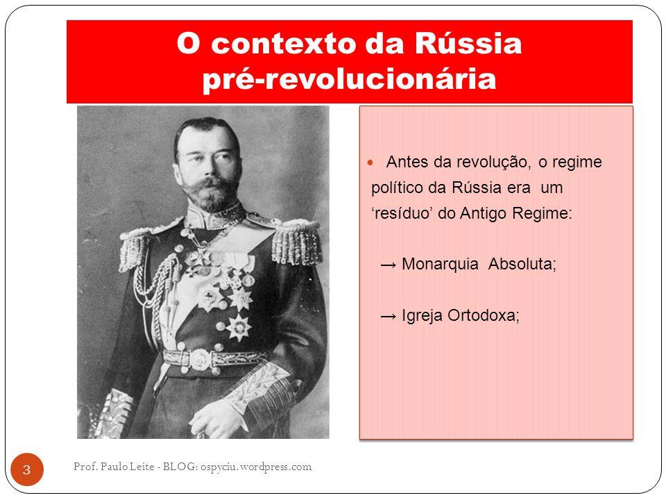 O contexto da Rússia pré-revolucionária