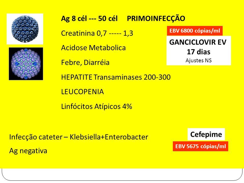 GANCICLOVIR EV 17 dias Cefepime