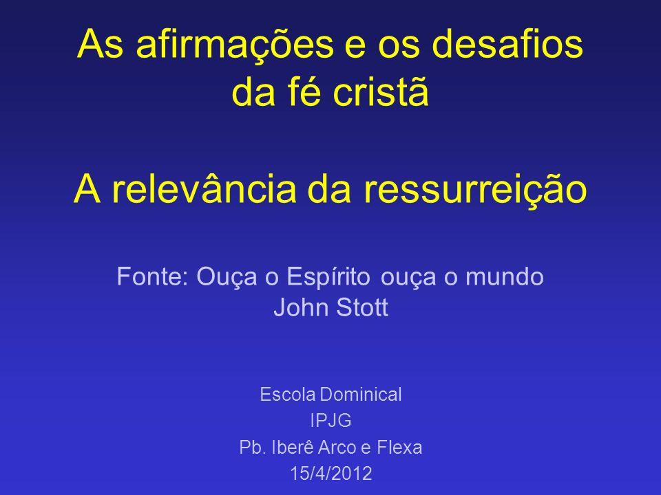 Escola Dominical IPJG Pb. Iberê Arco e Flexa 15/4/2012