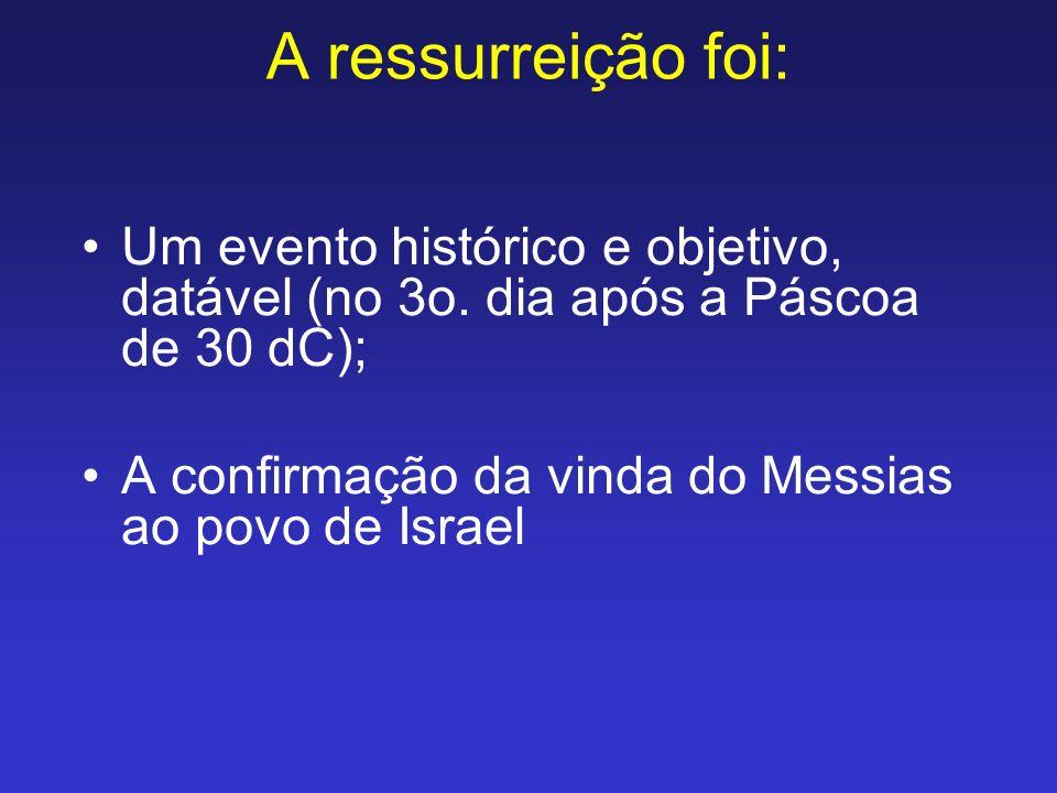 A ressurreição foi: Um evento histórico e objetivo, datável (no 3o.