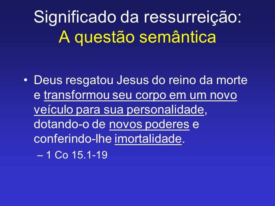 Significado da ressurreição: A questão semântica