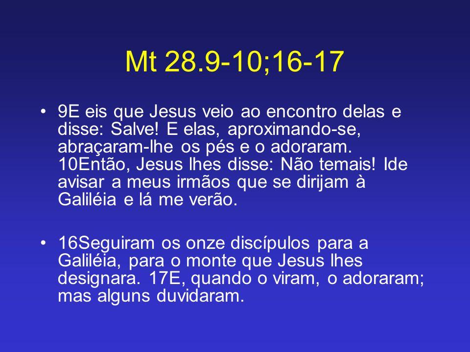 Mt 28.9-10;16-17