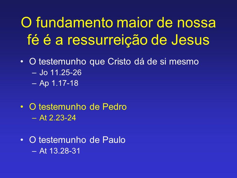 O fundamento maior de nossa fé é a ressurreição de Jesus