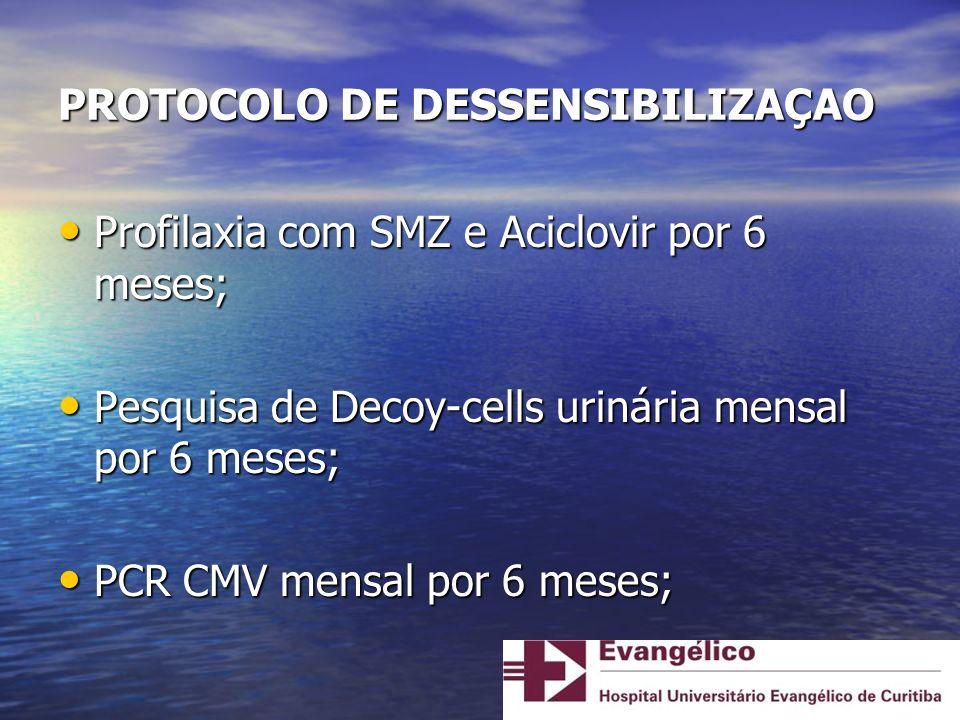 PROTOCOLO DE DESSENSIBILIZAÇAO
