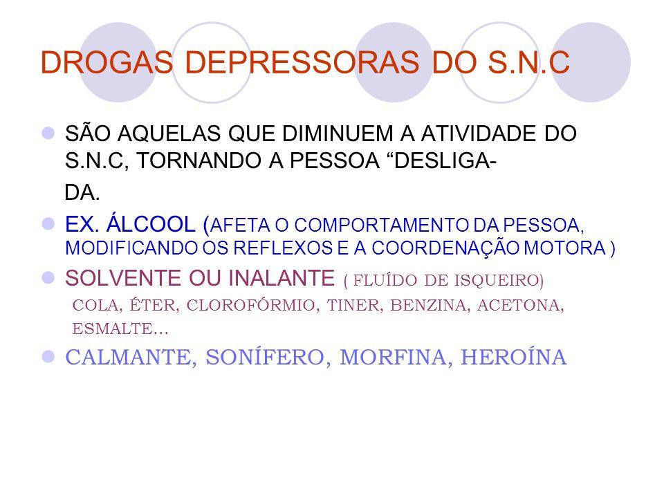 DROGAS DEPRESSORAS DO S.N.C