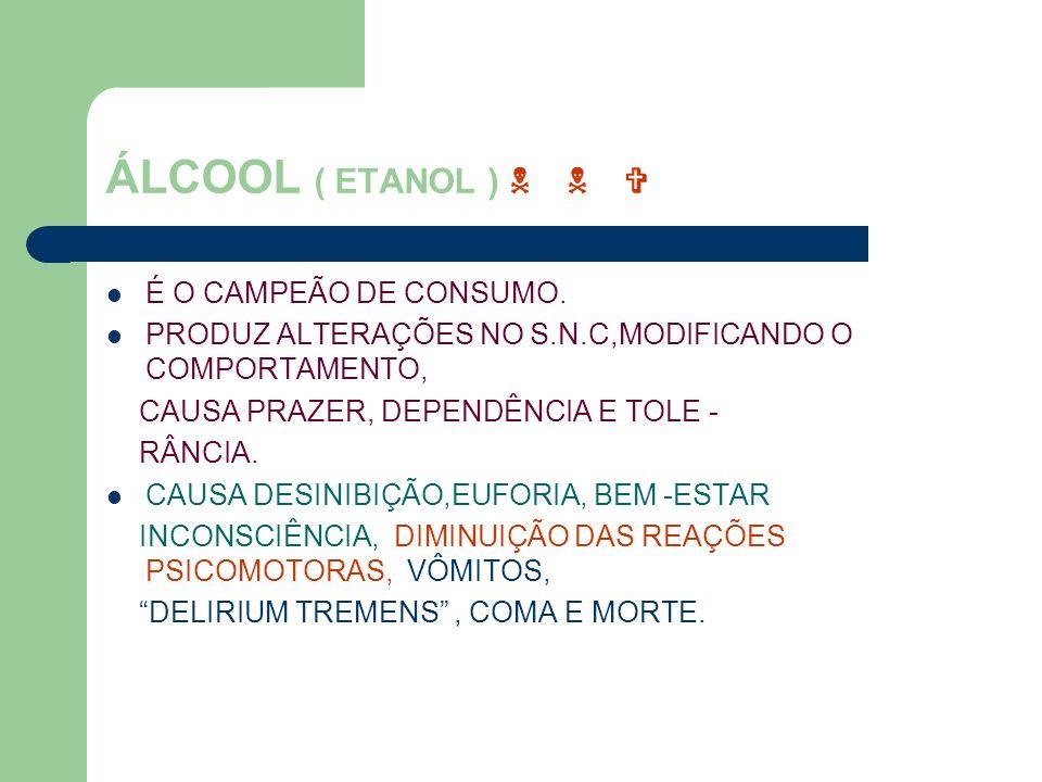 ÁLCOOL ( ETANOL ) N N V É O CAMPEÃO DE CONSUMO.