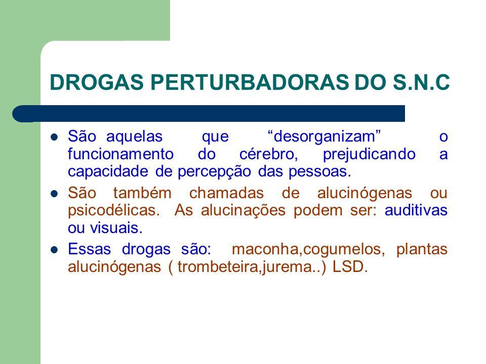 DROGAS PERTURBADORAS DO S.N.C