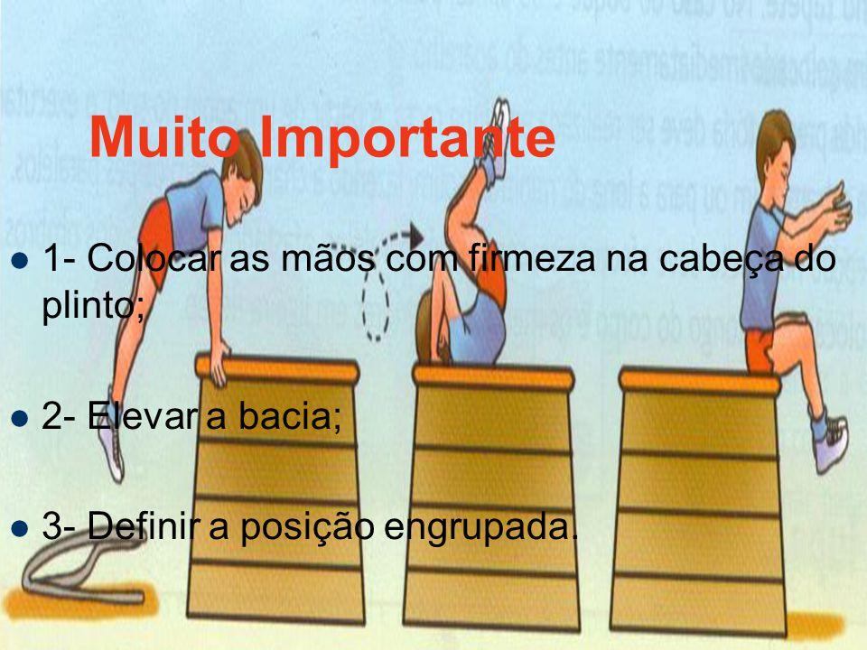 Muito Importante 1- Colocar as mãos com firmeza na cabeça do plinto;