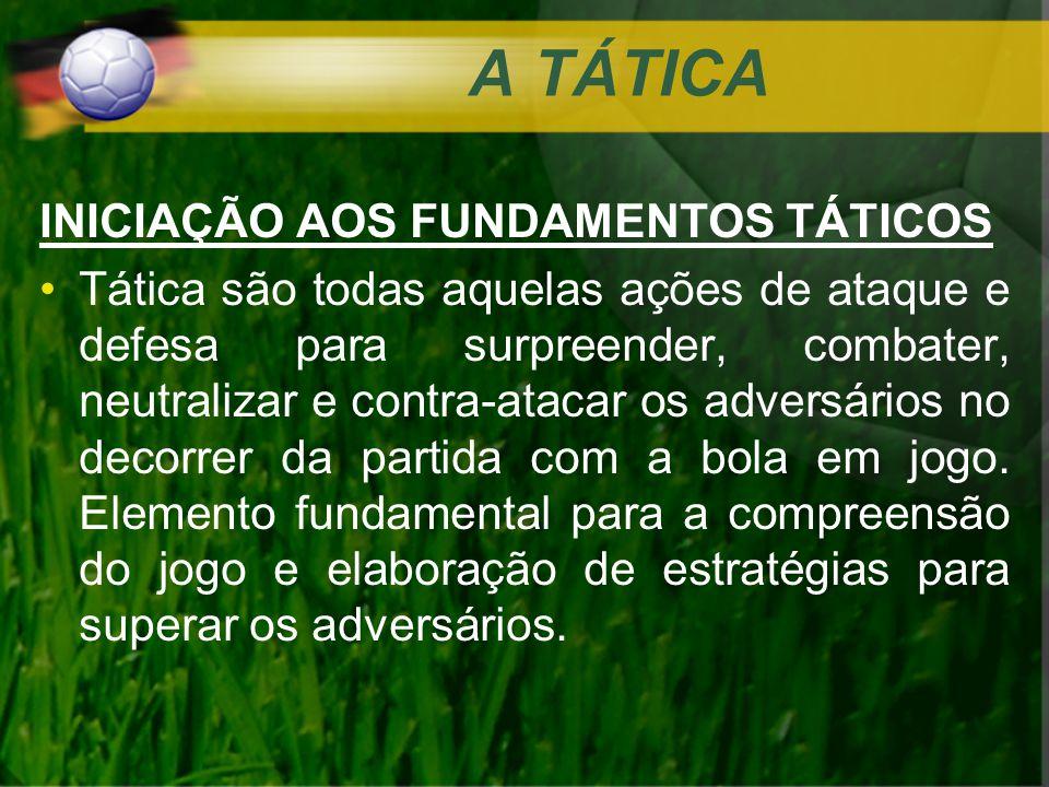 A TÁTICA INICIAÇÃO AOS FUNDAMENTOS TÁTICOS