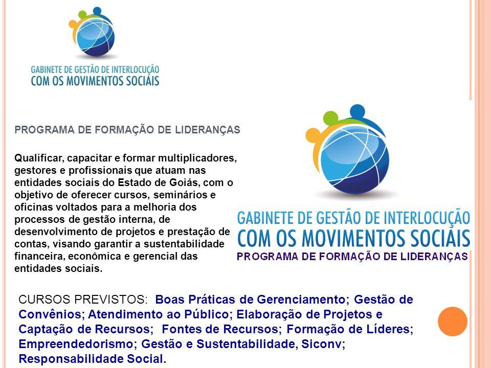 PROGRAMA DE FORMAÇÃO DE LIDERANÇAS