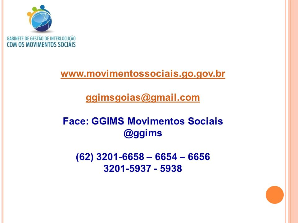 Face: GGIMS Movimentos Sociais