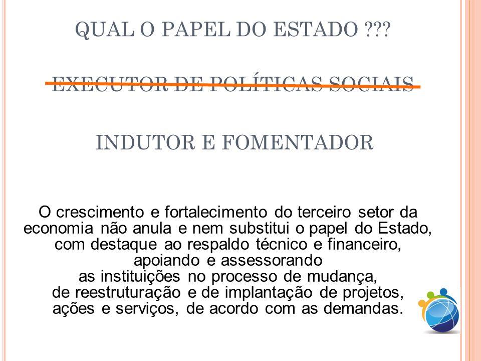 EXECUTOR DE POLÍTICAS SOCIAIS