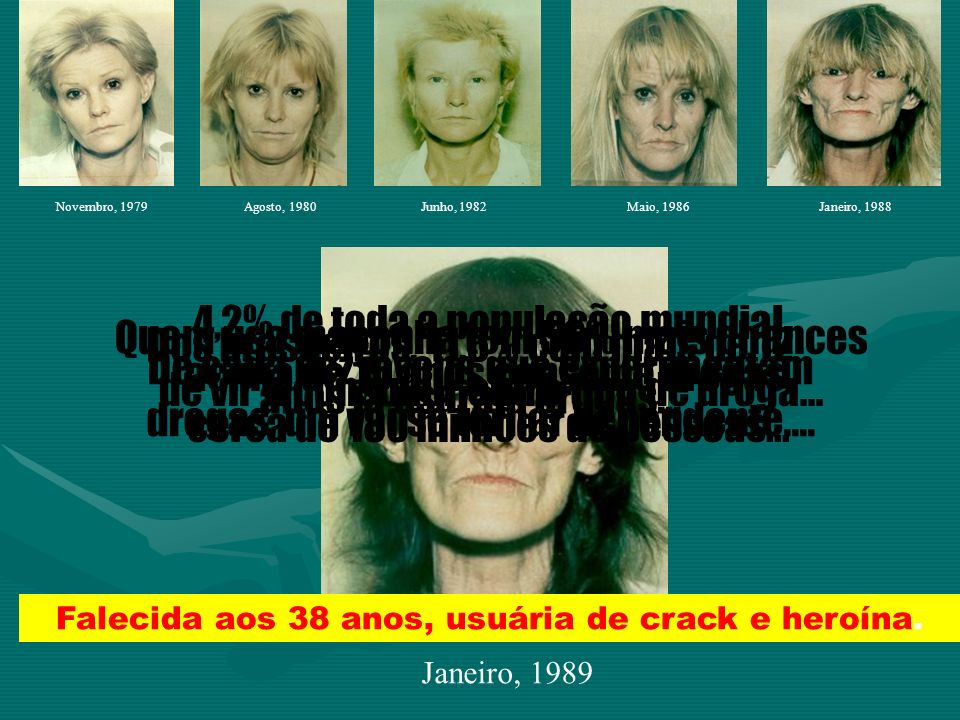 Dos brasileiros, 11,6% com mais de 12 anos já usaram drogas...