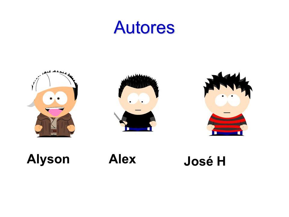 Autores Alyson Alex José H