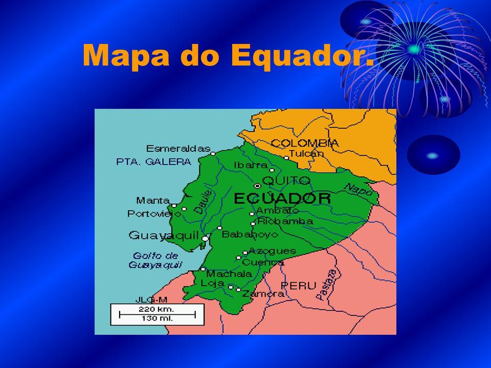 Mapa do Equador.