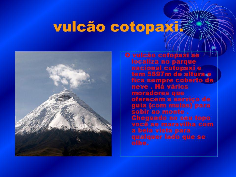vulcão cotopaxi.