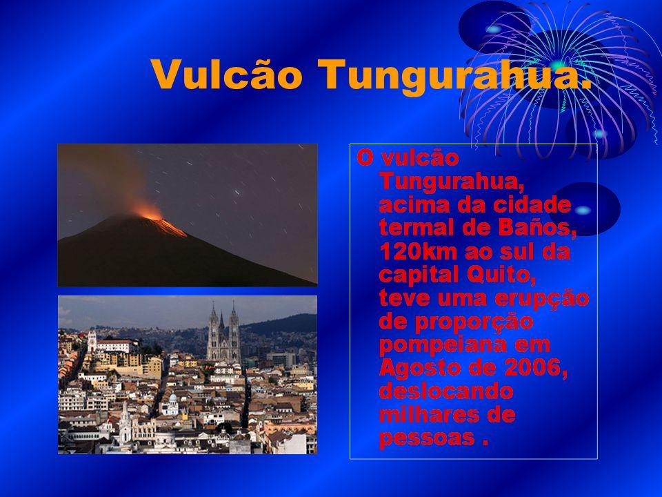 Vulcão Tungurahua.
