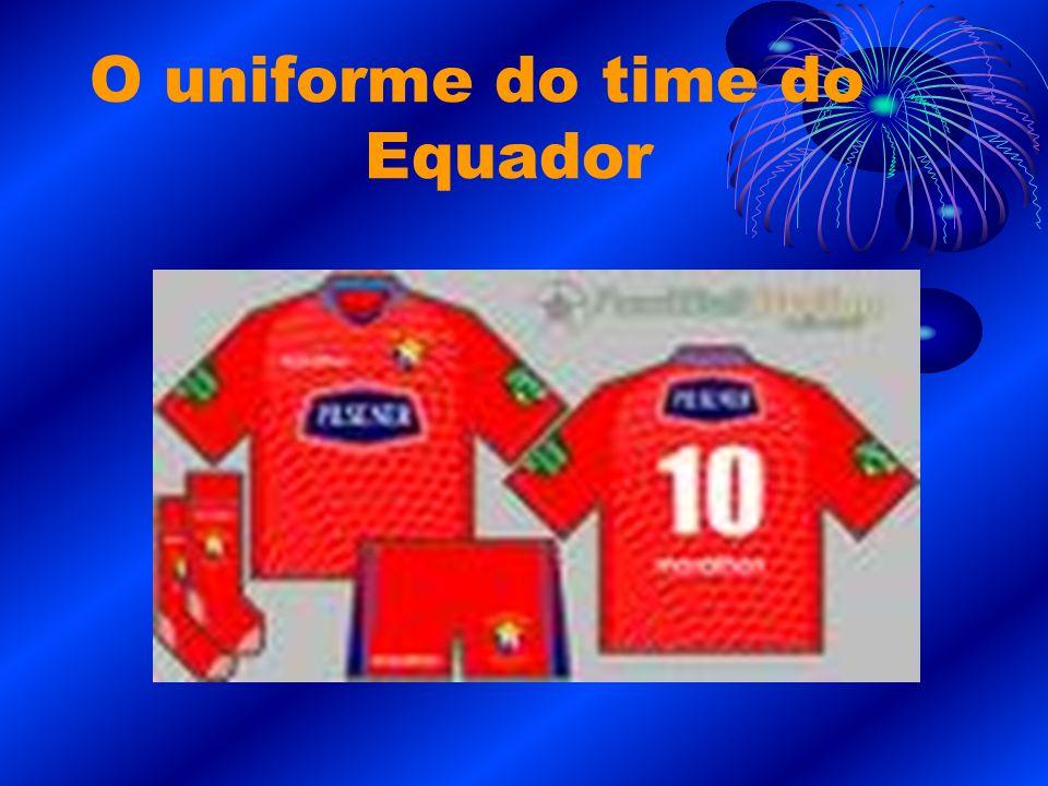 O uniforme do time do Equador