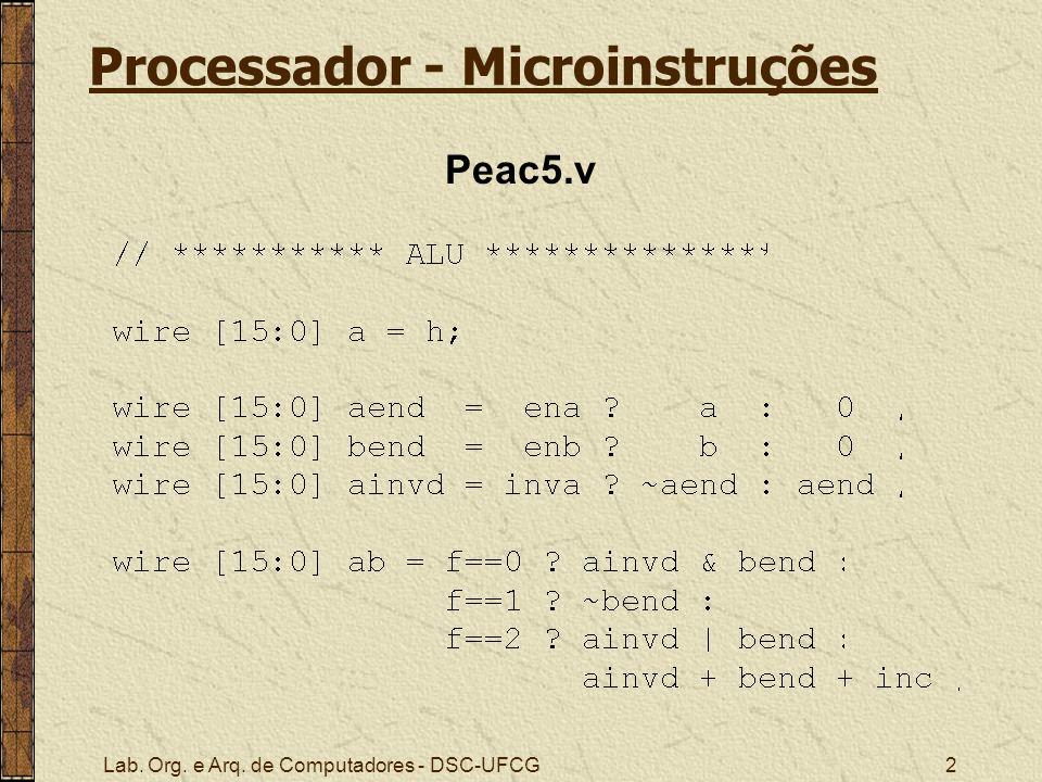 Processador - Microinstruções