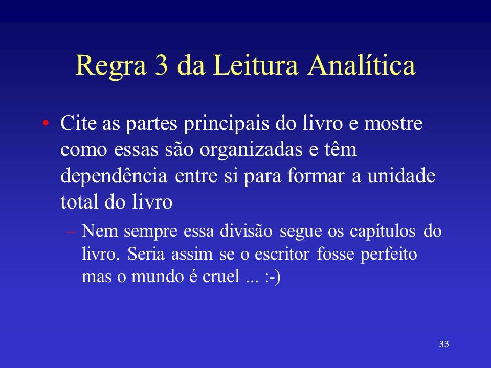 Regra 3 da Leitura Analítica