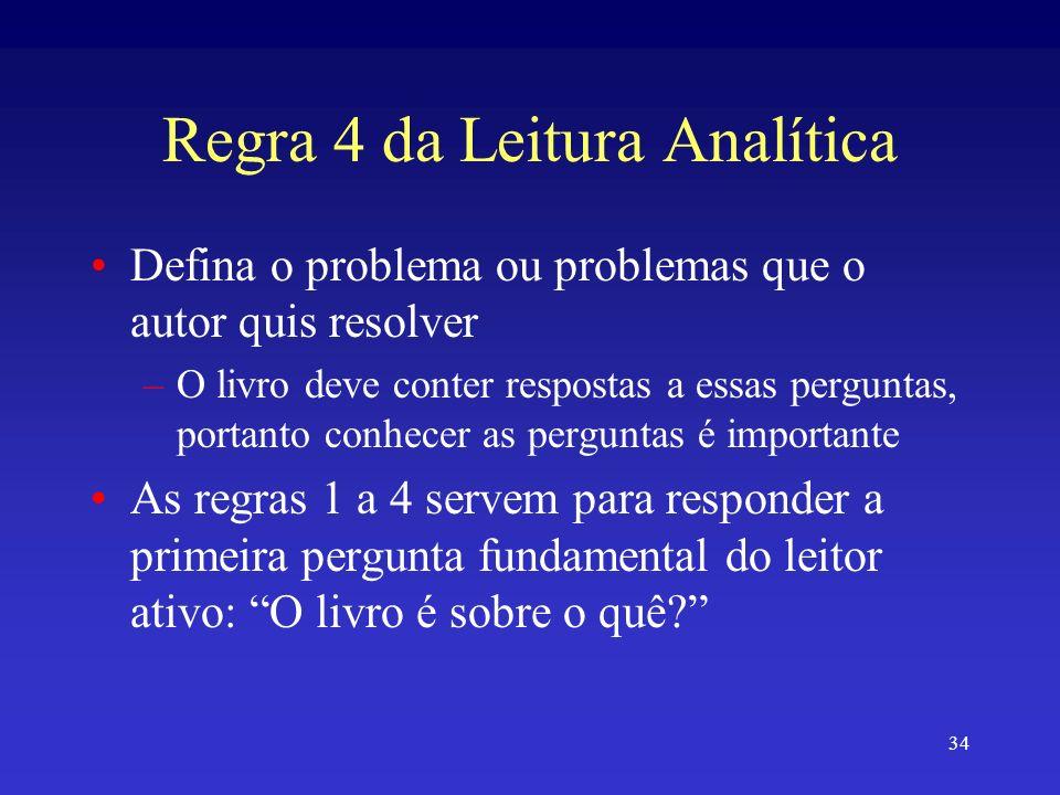 Regra 4 da Leitura Analítica