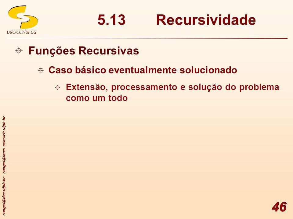 5.13 Recursividade Funções Recursivas