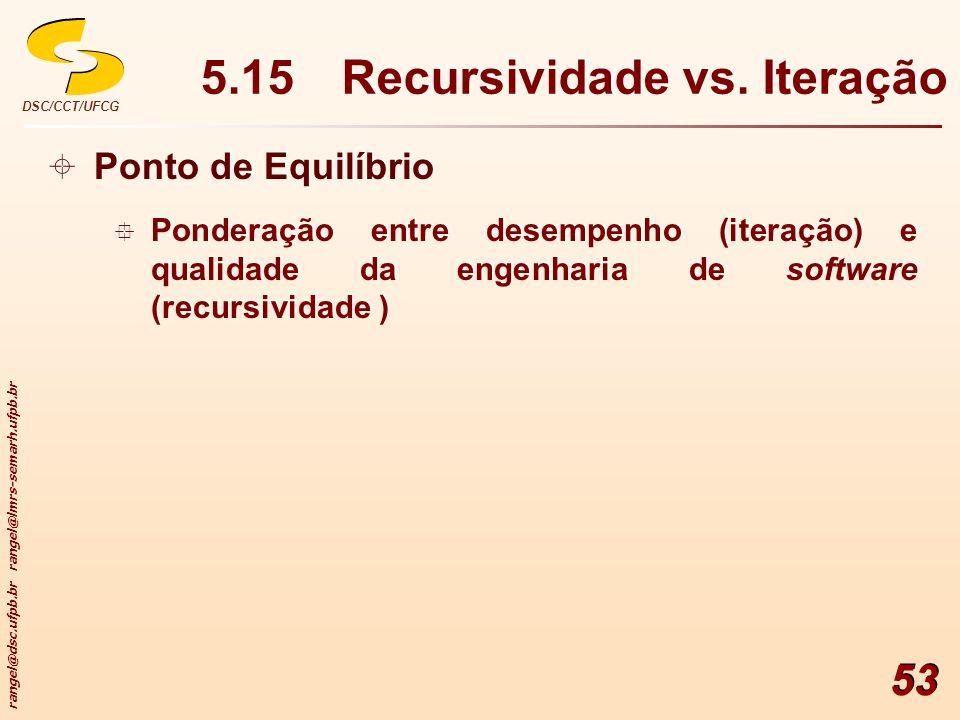 5.15 Recursividade vs. Iteração