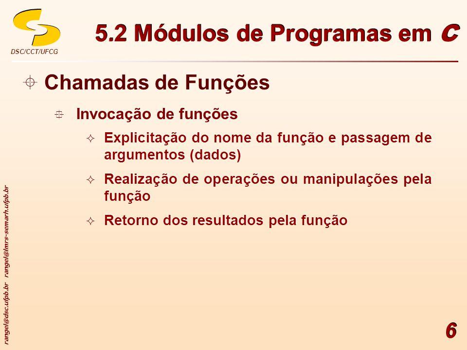 5.2 Módulos de Programas em C