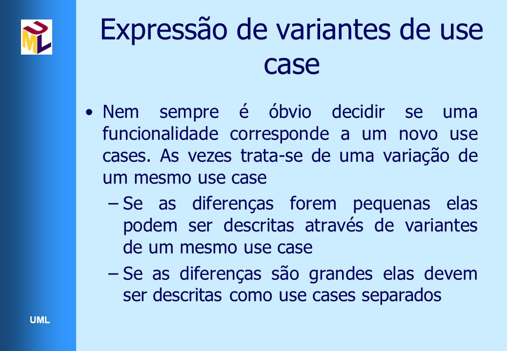 Expressão de variantes de use case