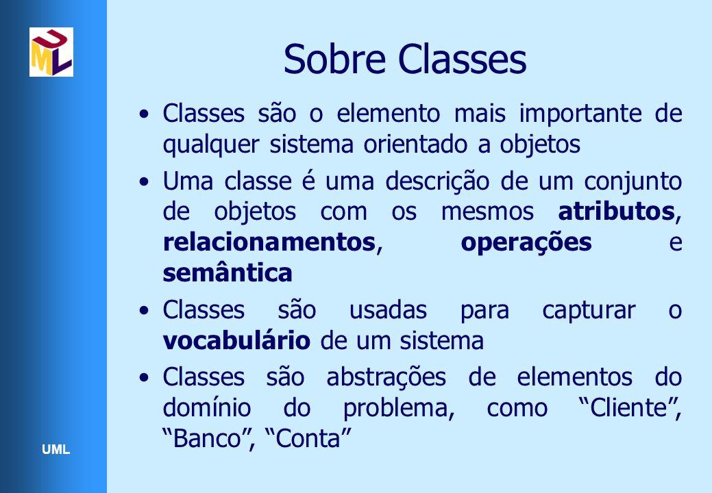 Sobre Classes Classes são o elemento mais importante de qualquer sistema orientado a objetos.