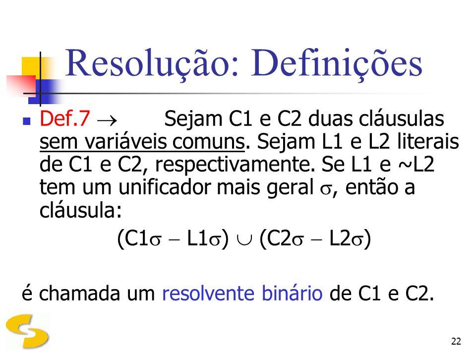 Resolução: Definições
