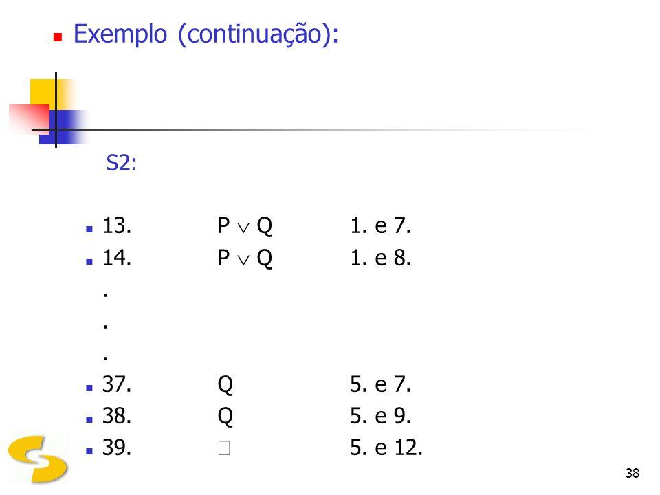 Exemplo (continuação):