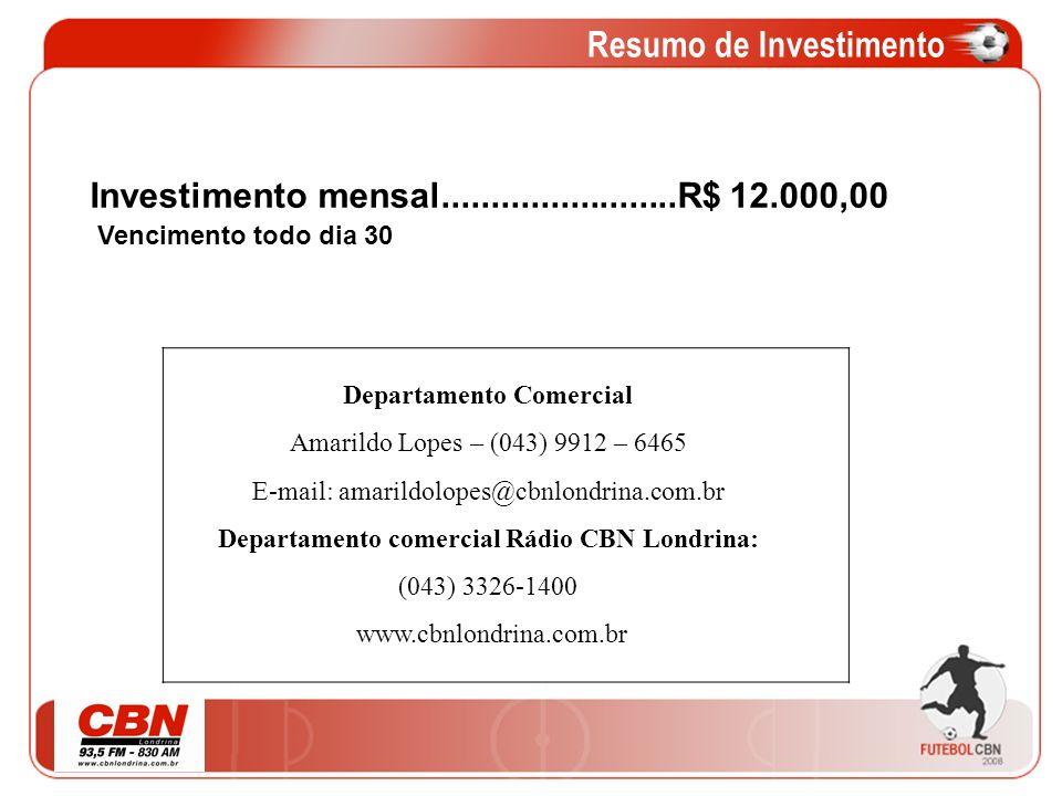 Resumo de Investimento