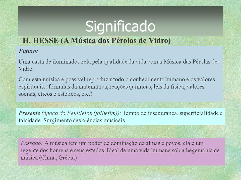Significado H. HESSE (A Música das Pérolas de Vidro) Futuro: