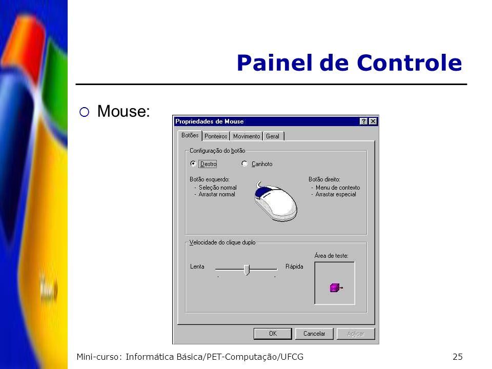 Painel de Controle Mouse: