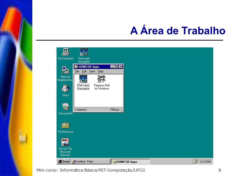 A Área de Trabalho Mini-curso: Informática Básica/PET-Computação/UFCG