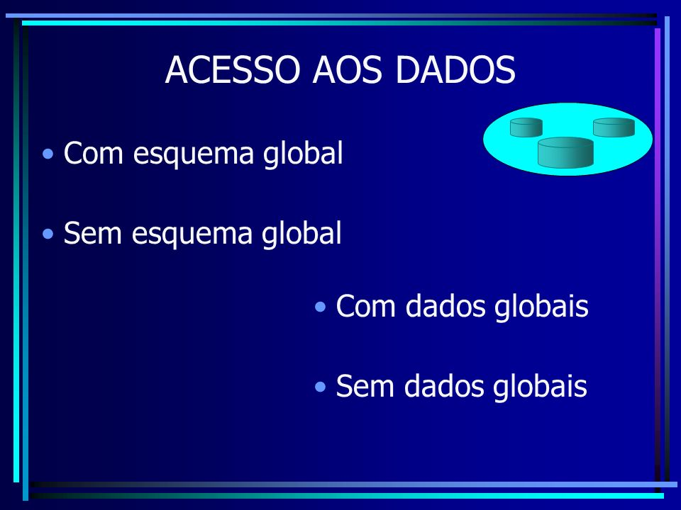 Com esquema global Sem esquema global